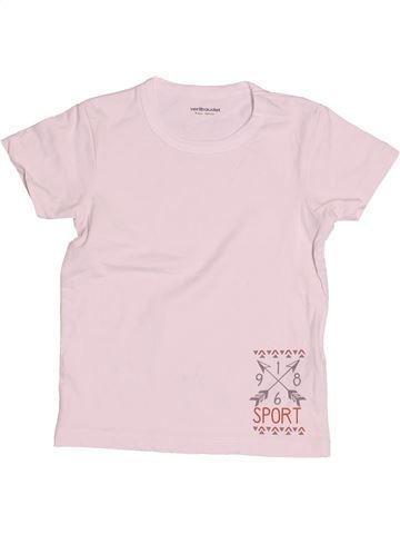 Camiseta de manga corta niña VERTBAUDET rosa 4 años verano #1502817_1