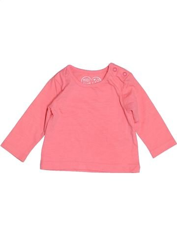 T-shirt manches longues fille PRIMARK rose 3 mois hiver #1503178_1