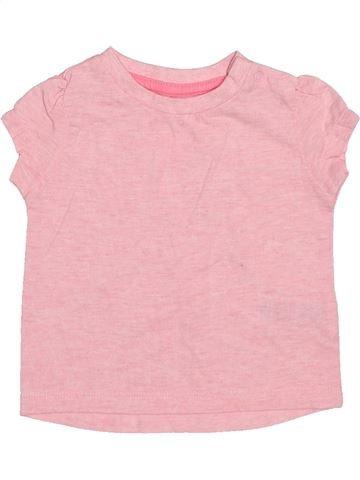 T-shirt manches courtes fille PRIMARK rose 6 mois été #1503607_1