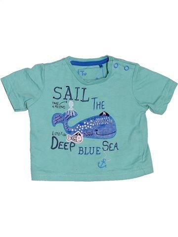 T-shirt manches courtes garçon TU bleu 1 mois été #1503634_1