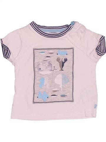 T-shirt manches courtes garçon OKAIDI blanc 3 mois été #1504418_1