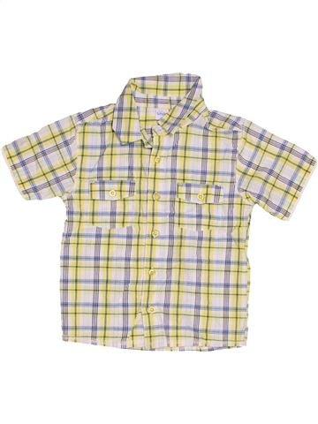 Chemise manches courtes garçon SMILE beige 4 ans été #1505070_1