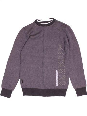 Pull garçon KICKERS violet 11 ans hiver #1505189_1