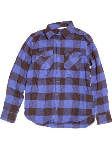 Chemise manches longues garçon H&M bleu 13 ans hiver #1505260_1