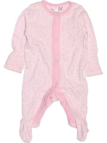 Pyjama 1 pièce fille M&CO rose prématuré été #1506370_1