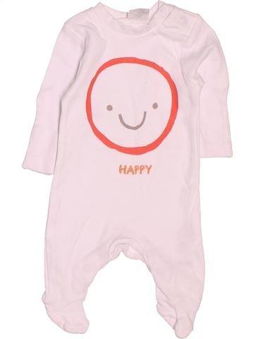 Pyjama 1 pièce garçon F&F rose prématuré été #1506377_1