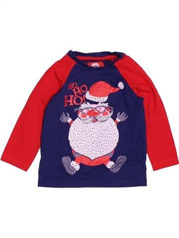 T-shirt manches longues garçon TU rouge 12 mois hiver #1506628_1