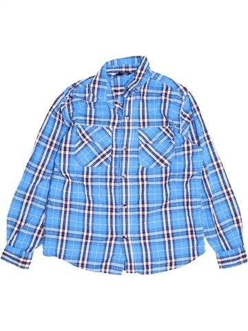 Chemise manches longues garçon GEORGE bleu 11 ans hiver #1506743_1