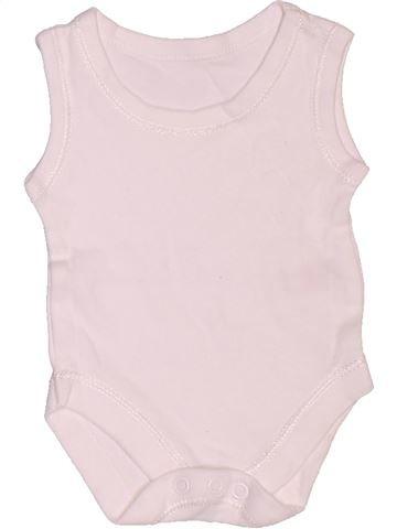 T-shirt manches courtes unisexe GEORGE rose 1 mois été #1506778_1