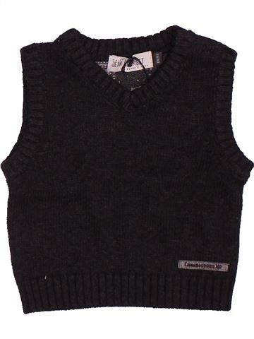 Pull garçon JEAN BOURGET noir 6 mois hiver #1506978_1