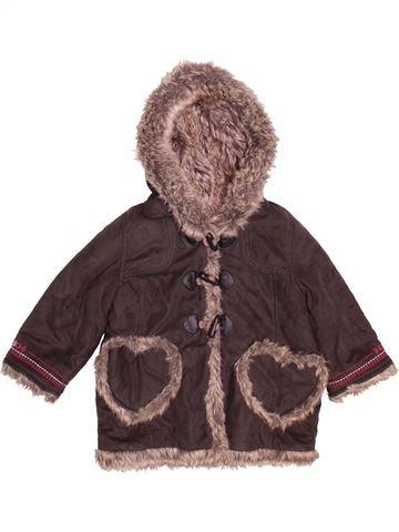 Manteau fille CATIMINI marron 2 ans hiver #1507526_1