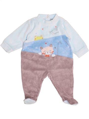 Pyjama 1 pièce garçon ABSORBA gris 3 mois hiver #1507811_1