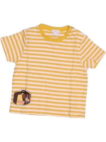 T-shirt manches courtes garçon OKAIDI beige 12 mois été #1507892_1