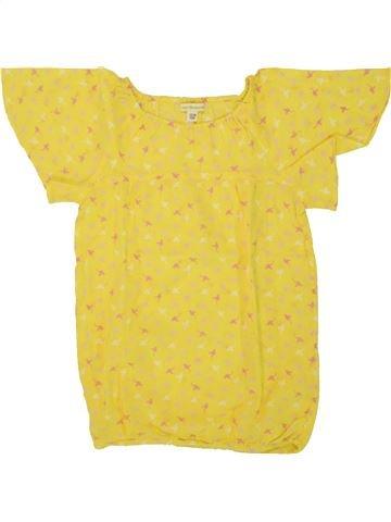 Blouse manches courtes fille VERTBAUDET jaune 8 ans été #1507968_1