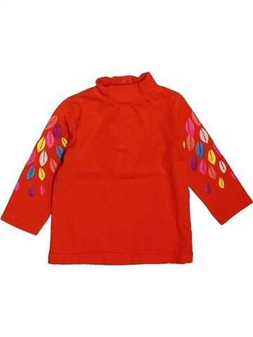 T-shirt manches longues fille DPAM rouge 3 mois hiver #1508894_1