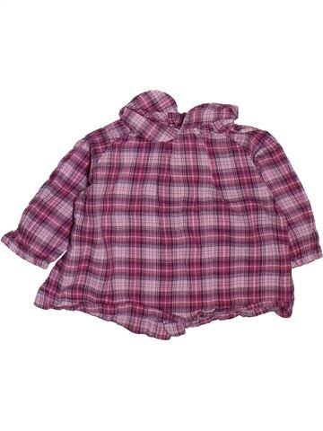Blusa de manga larga niña BOUT'CHOU violeta 3 meses invierno #1508898_1