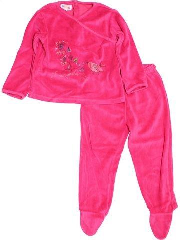 Pyjama 2 pièces fille LA COMPAGNIE DES PETITS rose 3 ans hiver #1509145_1