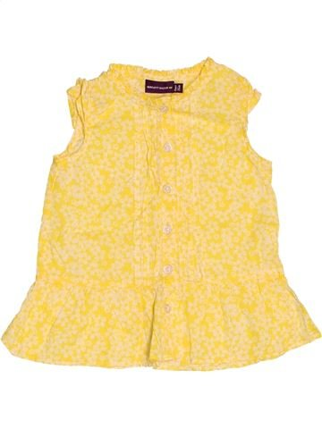 Blusa de manga corta niña SERGENT MAJOR amarillo 12 meses verano #1509398_1