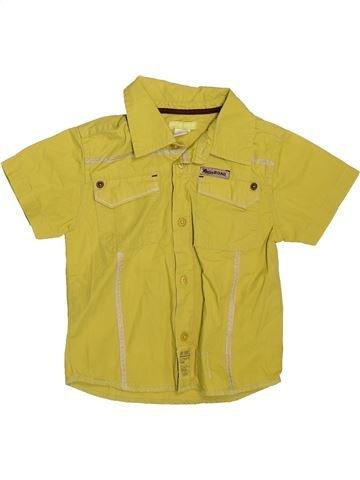 Chemise manches courtes garçon ORCHESTRA jaune 2 ans été #1509713_1