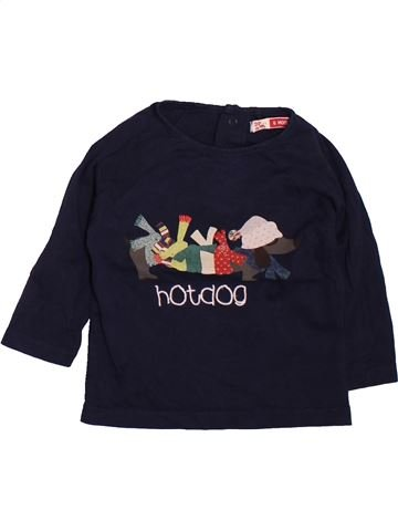 Camiseta de manga larga niño DPAM negro 6 meses invierno #1510099_1