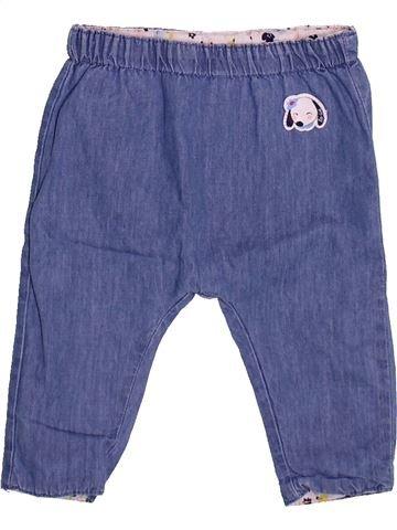 Pantalon fille LA COMPAGNIE DES PETITS bleu 3 mois été #1510128_1