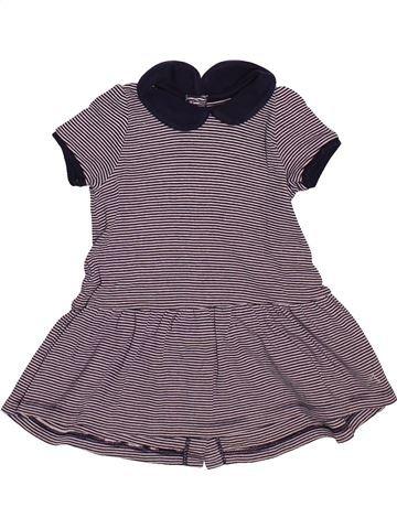 Vestido niña PETIT BATEAU violeta 12 meses verano #1510169_1