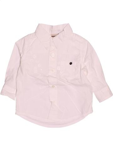 Chemise manches longues garçon IKKS blanc 6 mois hiver #1510659_1