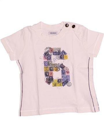 T-shirt manches courtes garçon IKKS blanc 6 mois été #1510666_1