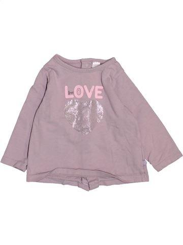 Camiseta de manga larga niña OKAIDI rosa 6 meses invierno #1510909_1
