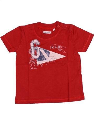 T-shirt manches courtes garçon IKKS rouge 6 mois été #1510965_1