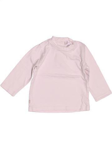T-shirt manches longues garçon OKAIDI rose 6 mois hiver #1511544_1
