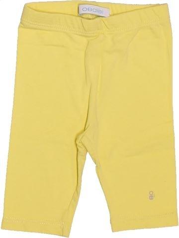 Legging niña OBAIBI amarillo 6 meses verano #1511911_1