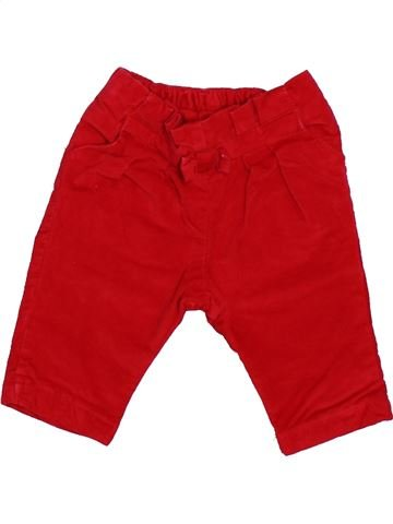 Pantalon fille DPAM rouge 3 mois hiver #1511933_1