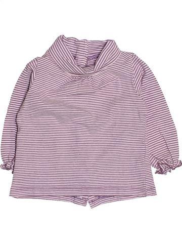 T-shirt col roulé fille VERTBAUDET gris 3 mois hiver #1513250_1