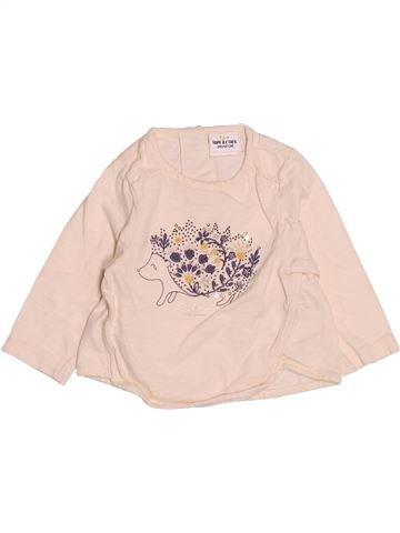 T-shirt manches longues fille TAPE À L'OEIL beige 3 mois hiver #1513402_1