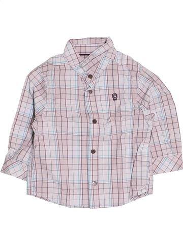Chemise manches longues garçon OKAIDI blanc 12 mois hiver #1513531_1