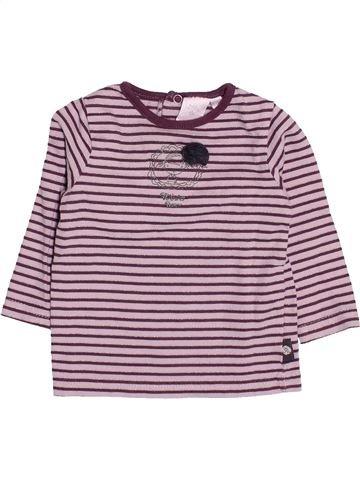 T-shirt manches longues fille CADET ROUSSELLE rose 6 mois hiver #1513545_1