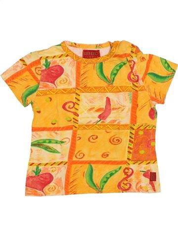 T-shirt manches courtes fille KENZO jaune 18 mois été #1513574_1