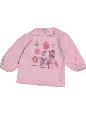 T-shirt manches longues fille ALPHABET rose 6 mois hiver #1513997_1
