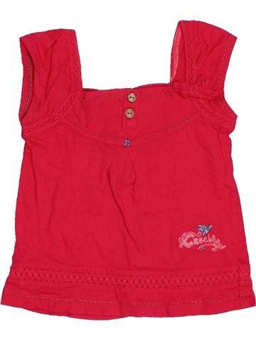 T-shirt sans manches fille CREEKS rouge 6 mois été #1515687_1