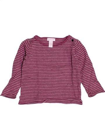 Pull fille OKAIDI violet 6 mois hiver #1515953_1