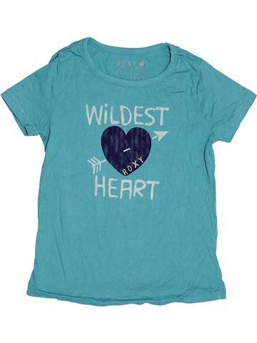 T-shirt manches courtes fille ROXY bleu 5 ans été #1515980_1