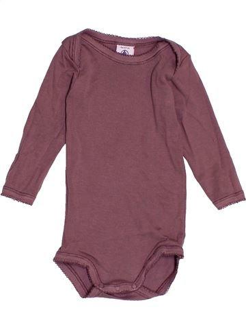 T-shirt manches longues fille PETIT BATEAU violet 6 mois hiver #1515985_1