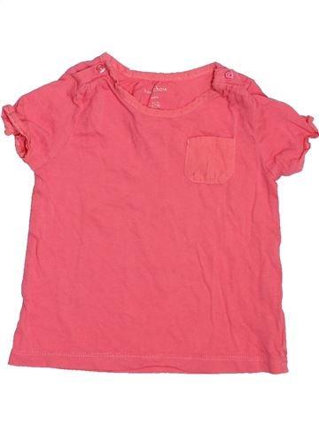 T-shirt manches courtes fille BOUT'CHOU rose 6 mois été #1517340_1