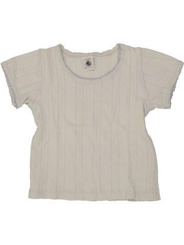 T-shirt manches courtes fille PETIT BATEAU beige 3 ans été #1517774_1