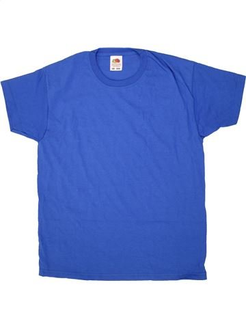 T-shirt manches courtes garçon FRUIT OF THE LOOM bleu 11 ans été #1517978_1