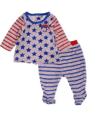 Pyjama 2 pièces garçon ORCHESTRA gris 3 mois hiver #1519178_1