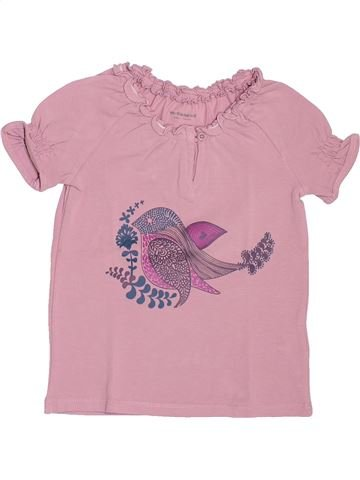 Camiseta de manga corta niña VERTBAUDET rosa 4 años verano #1520074_1