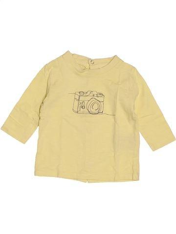 T-shirt manches longues garçon BRIOCHE beige 3 mois hiver #1520196_1