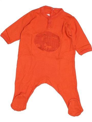 Pyjama 1 pièce garçon PETIT BATEAU orange 3 mois été #1520221_1